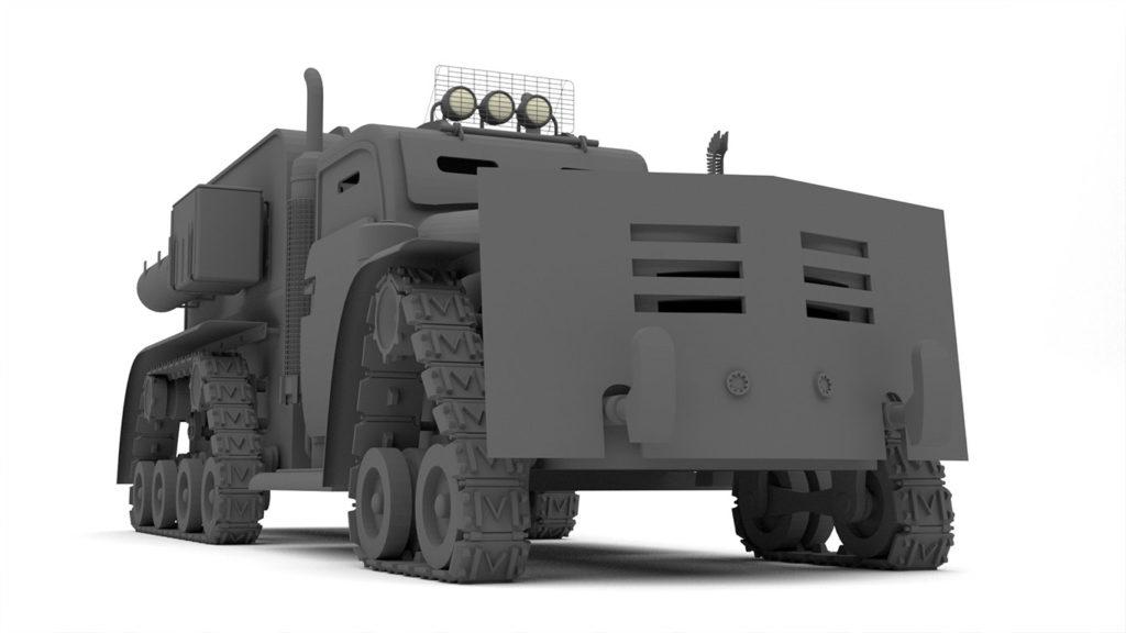 pixels can talk 3d pixel armoured truck 04
