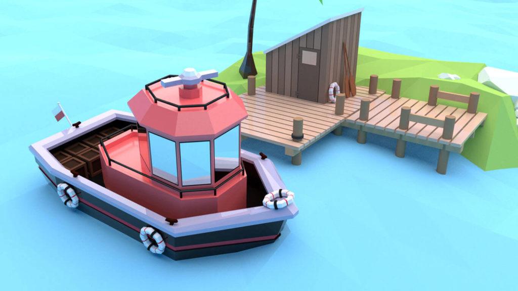 pixels can talk 3d pixel red boat 01