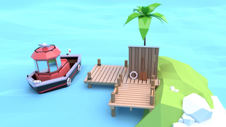 pixels can talk 3d pixel red boat 02