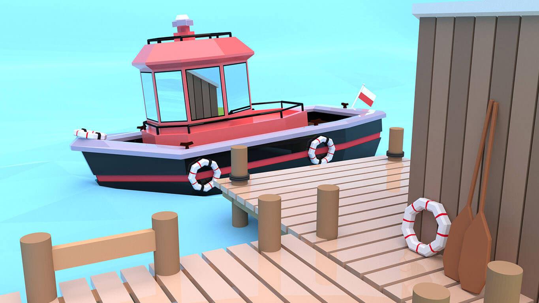 pixels can talk 3d pixel red boat 04