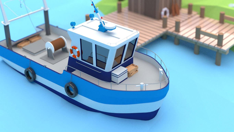 pixels can talk 3d pixel shrimp trawler 04